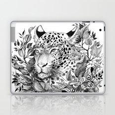 black and white jungle leopard Laptop & iPad Skin