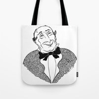 gentleman Tote Bags featuring Gentleman by Addison Karl