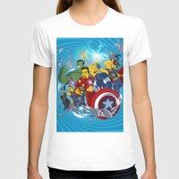 superheroes T-shirts featuring Superheroes by Adrien ADN Noterdaem