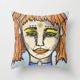 Elf Girl Throw Pillow