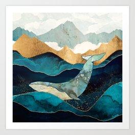 Blue Whale Kunstdrucke