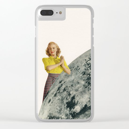 He Gave Her The Moon Clear iPhone Case