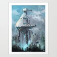 Mother ship extraction Art Print