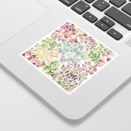 Bright Watercolor Succulents Sticker