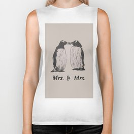 Wedding Penguins (Mrs. & Mrs.) Biker Tank