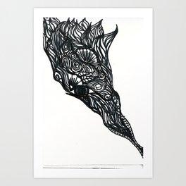 Henna Design 7 Art Print