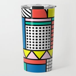 Memphis Color Block Travel Mug