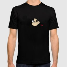 Deconstructing Mickey Mens Fitted Tee Black MEDIUM