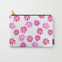 Bright Winter Flowers Carry-All Pouch