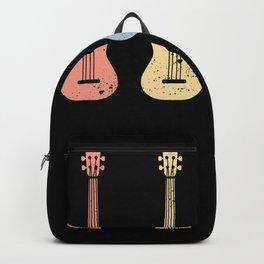 Retro Vintage Ukulele Uke Funny Gift Backpack