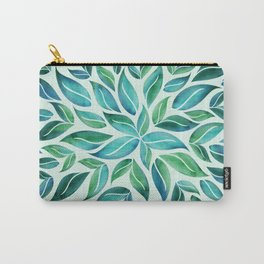 Summertime Blues Leaf Burst Carry-All Pouch