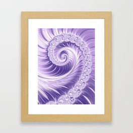 Ultra Violet Luxe Spiral Pattern | Trendy Color of the Year 2018 Framed Art Print