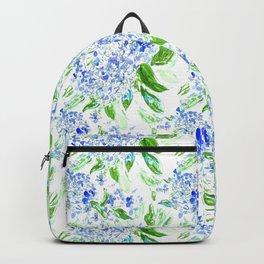 Blue Watercolour Hydrangea Pattern Backpack