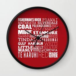Hibiscus Coast V3 Wall Clock
