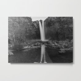 Reflecting Falls Metal Print