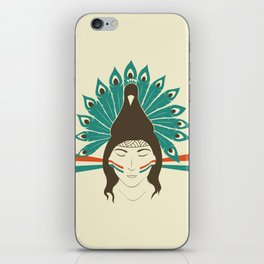 The princess and the peacock iPhone Skin
