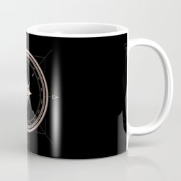 Rosegold Compass on Black II Coffee Mug