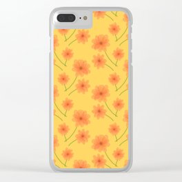 Summer Blooms Clear iPhone Case