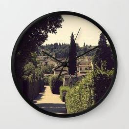 Boboli Gardens Wall Clock