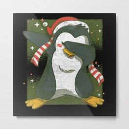 Funny Dabbing Penguin Metal Print