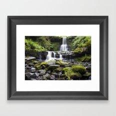 Blaen-y-glyn Waterfall 5 Framed Art Print