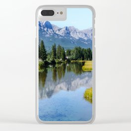 Rocky Mountain Reflection Clear iPhone Case