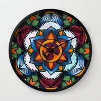 rogue Wall Clocks featuring Rogue by Matthew Zigrossi Visual Arts