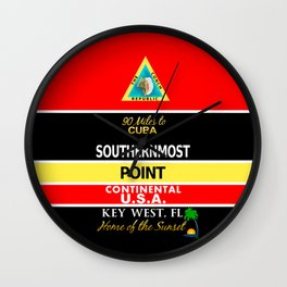 Key West Southernmost Point Buoy Wall Clock