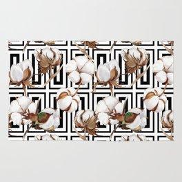 Cotton Flower Pattern 08 Rug