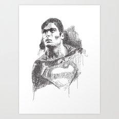 Christopher Reeve Portrait Art Print