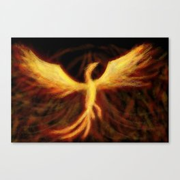 Phoenix Rising Fantasy Painting Bird Mythology Lengendary Creature Rebirth Colorful Canvas Print