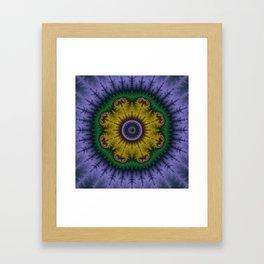 Fractal Mandala Framed Art Print