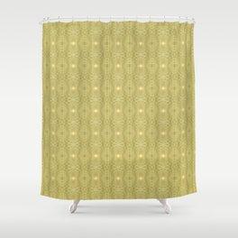 Golden Gossamer Web Digital Art Shower Curtain