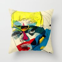 kandinsky Throw Pillows featuring 041112 by Alvaro Tapia Hidalgo
