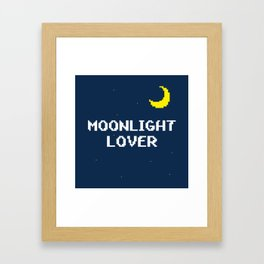 Moonlight Lover Framed Art Print