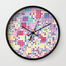 Fun Pattern Wall Clock