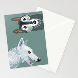Totem Canadian wolf 2 Stationery Cards