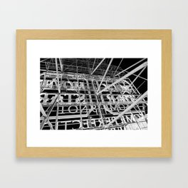 Hollywood Rooftop Sign, Los Angeles, USA Framed Art Print