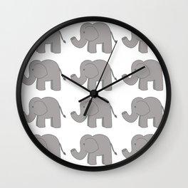Lots of Elephants Wall Clock