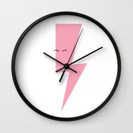 Pink Thunderbolt Wall Clock