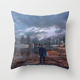 The coming of the dawn Throw Pillow