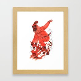 Sk8 The 40oz Framed Art Print