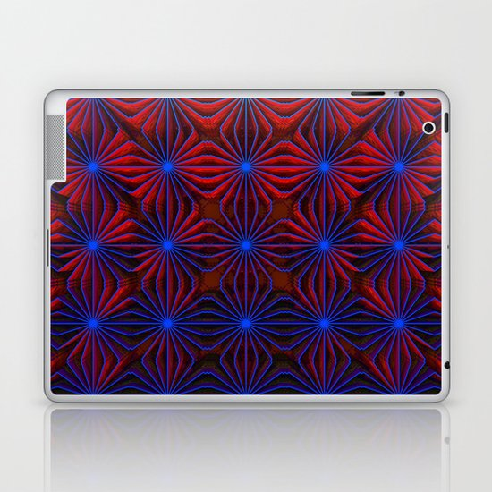 Complexities in Blue and Red Laptop & iPad Skin