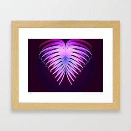 Ribbon Heart print Framed Art Print