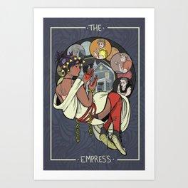 Blue; The Empress Art Print