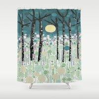 sandman Shower Curtains featuring :: Moonlight Kiss :: by :: GaleStorm Artworks ::