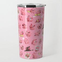 Rosa the Pig Pattern Travel Mug