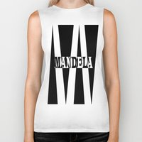 mandela Biker Tanks featuring Mandela tribute by Brian Raggatt
