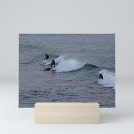 Surfers Wave Seascape Mini Art Print