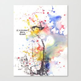 Stetsons are Cool From Doctor Who Canvas Print